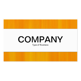 Center Band  - Painted Orange Business Cards