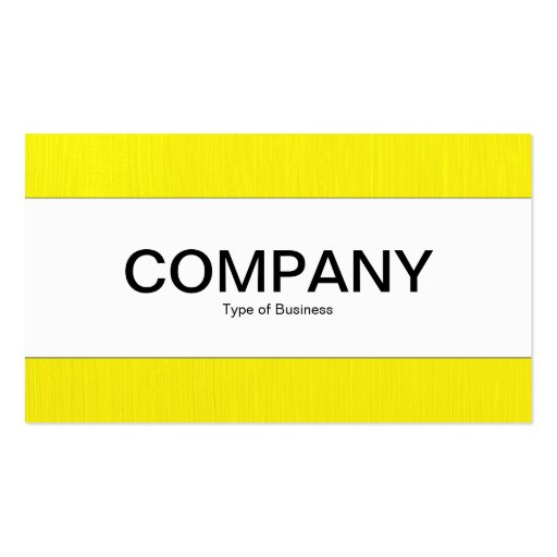 Center Band  - Painted Yellow Business Cards