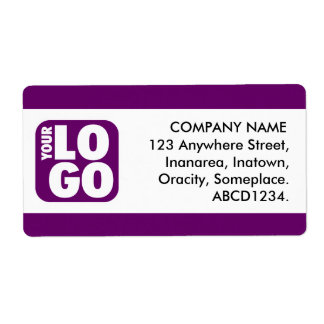 Center Band - Plum Shipping Label