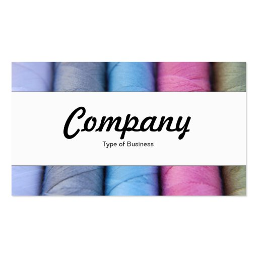 Center Band  - Reels of Cotton Business Card Templates