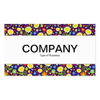 Center Band - Spring Flowers - Deep Purple Business Card