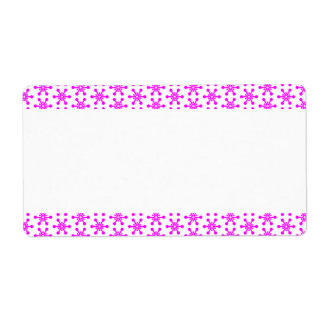 Center Band - Stars Shipping Label
