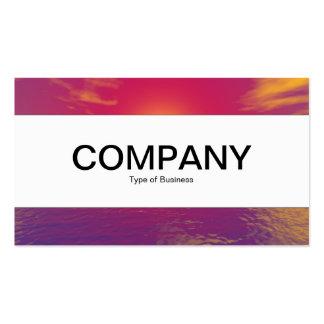 Center Band - Sunrise Sunset Business Card Template