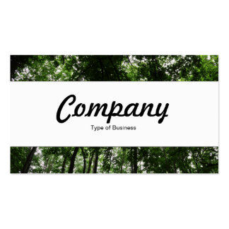 Center Band  - Woodland Canopy 01 Pack Of Standard Business Cards