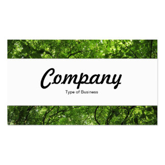 Center Band - Woodland Canopy Business Card