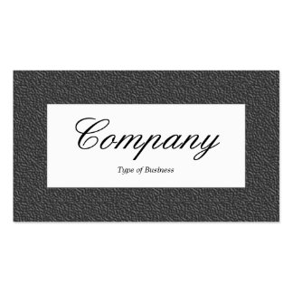 Center Label - Dark Gray Embossed Texture Business Card Templates