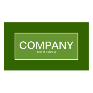 Center Label II - Avocado Green with Green 336600 Pack Of Standard Business Cards