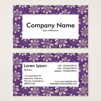 Center Label v4 - 140617 - Dp Purple and Beige Business Card