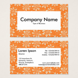 Center Label v4 - 140617 - Orange and Beige Business Card