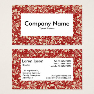 Center Label v4 - 140617 - Ruby Red and Beige Business Card