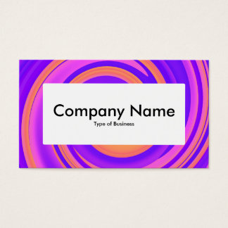 Center Label v4 - Abstract Swirl 250816 - 01c Business Card