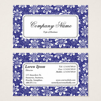 Center Label v5 - Pattern 140617 - Dk Blue Business Card