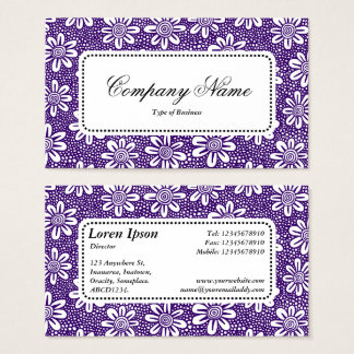 Center Label v5 - Pattern 140617 - Dp Purple Business Card
