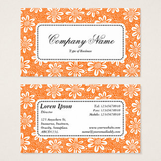 Center Label v5 - Pattern 140617 - Orange Business Card