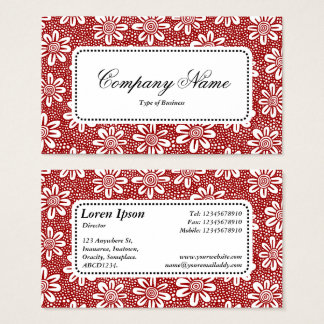 Center Label v5 - Pattern 140617 - Ruby Red Business Card