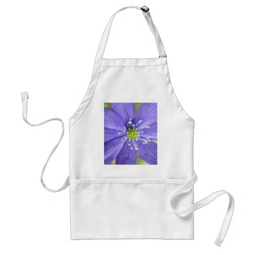 Center of a blue flower with white stamps apron