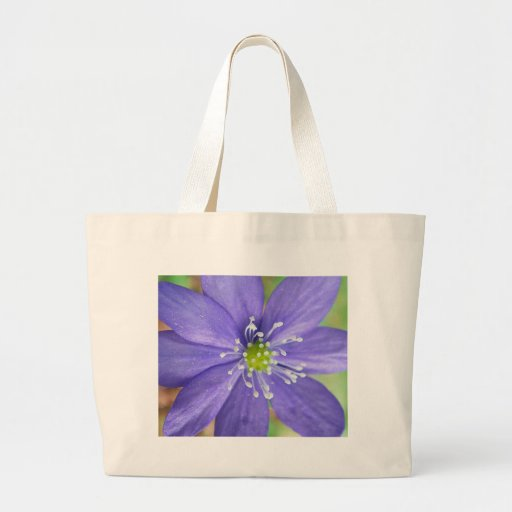 Center of a blue flower with white stamps bag
