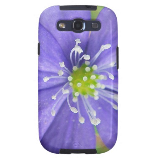 Center of a blue flower with white stamps samsung galaxy SIII cases