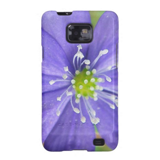 Center of a blue flower with white stamps samsung galaxy s2 case