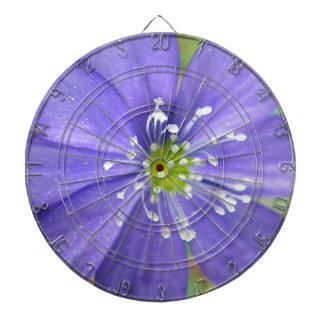 Center of a blue flower with white stamps dartboard