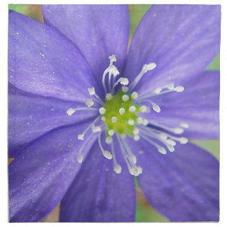 Center of a blue flower with white stamps cloth napkins