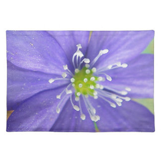 Center of a blue flower with white stamps place mats