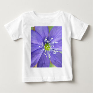 Center of a blue flower with white stamps shirts