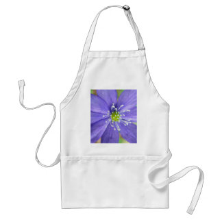 Center of a blue flower with white stamps standard apron