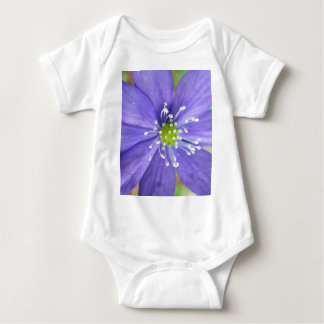 Center of a blue flower with white stamps t shirts