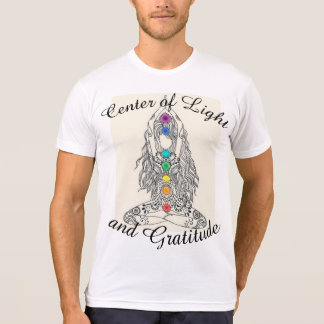 Center of Light and Gratitude Mens tshirt