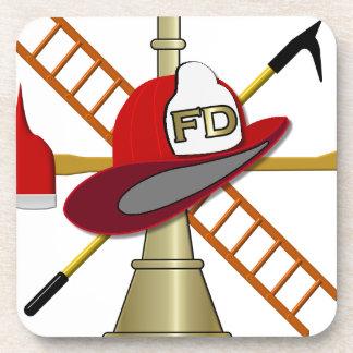 Center Scramble Fire Department Design Drink Coaster