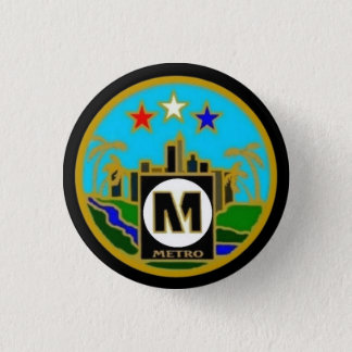 Center Seal- Los Angeles Metro Buses 3 Cm Round Badge