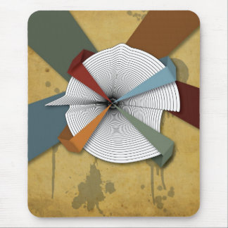 Center Yourself-Digital Grunge Abstract Art Mouse Pad