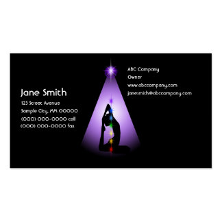 Centered Pack Of Standard Business Cards
