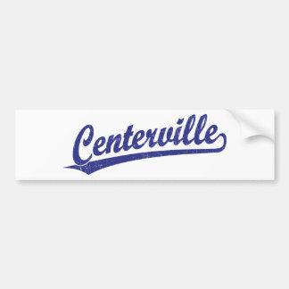 Centerville script logo in blue bumper sticker