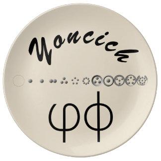 Centesimal 12Digit Fibonacci Sequence by K Yoncich Porcelain Plate