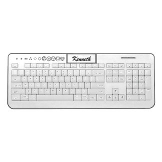 Centesimal 12Digit Fibonacci Sequence by K Yoncich Wireless Keyboard