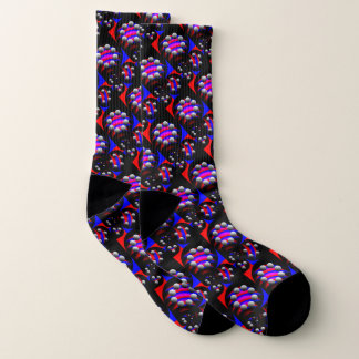 Centesimal Fibonacci 'Fish Black' by K Yoncich Socks