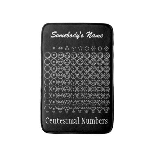 Centesimal Number Chart Sm Lg Bath Mats Zazzle