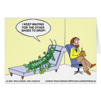 Centipede In Therapy Funny Gifts Tees Mugs Etc Card