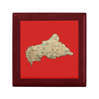 Centrafrique Map Gift Box