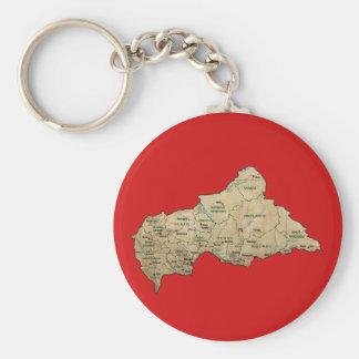 Centrafrique Map Keychain