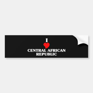 CENTRAL AFRICAN REPUBLIC BUMPER STICKER