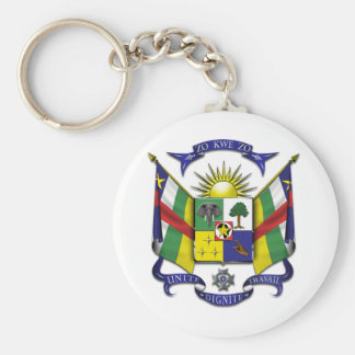 Central African Republic CF Basic Round Button Key Ring