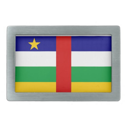 central african republic country flag belt buckles