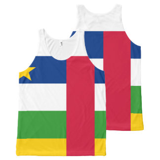Central-African Republic Flag All-Over Print Singlet
