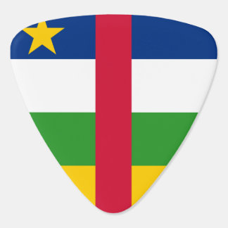 Central African Republic Flag Guitar Pick