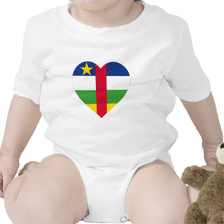 Central African Republic Flag Heart Shirts