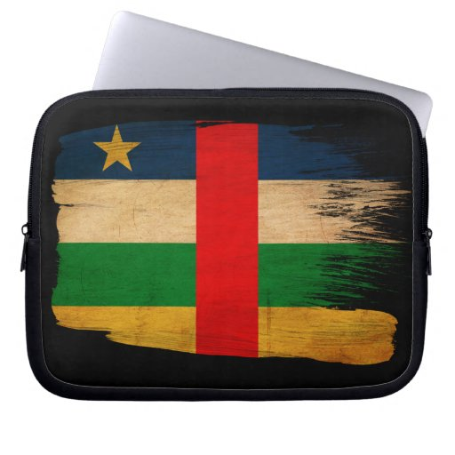 Central African Republic Flag Laptop Computer Sleeve