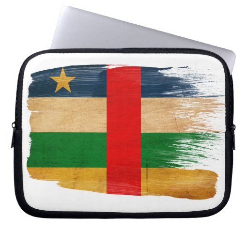 Central African Republic Flag Laptop Computer Sleeves